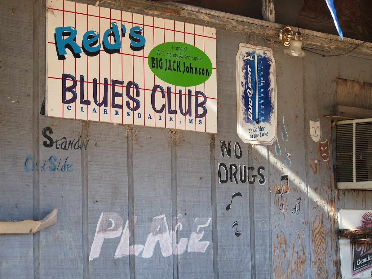 RL often plays at Red's juke joint in Clarksdale, Mississippi.