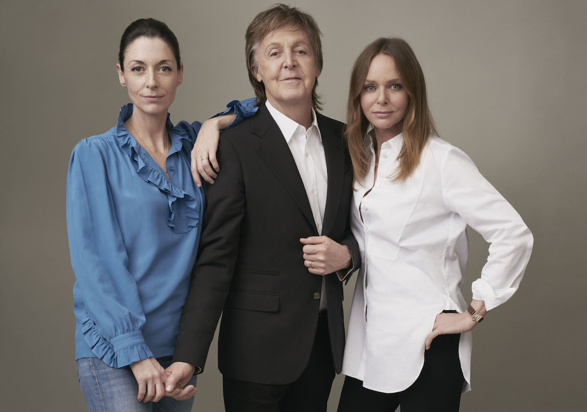 Mary, Paul, and Stella McCartney. (© MPL Communications)