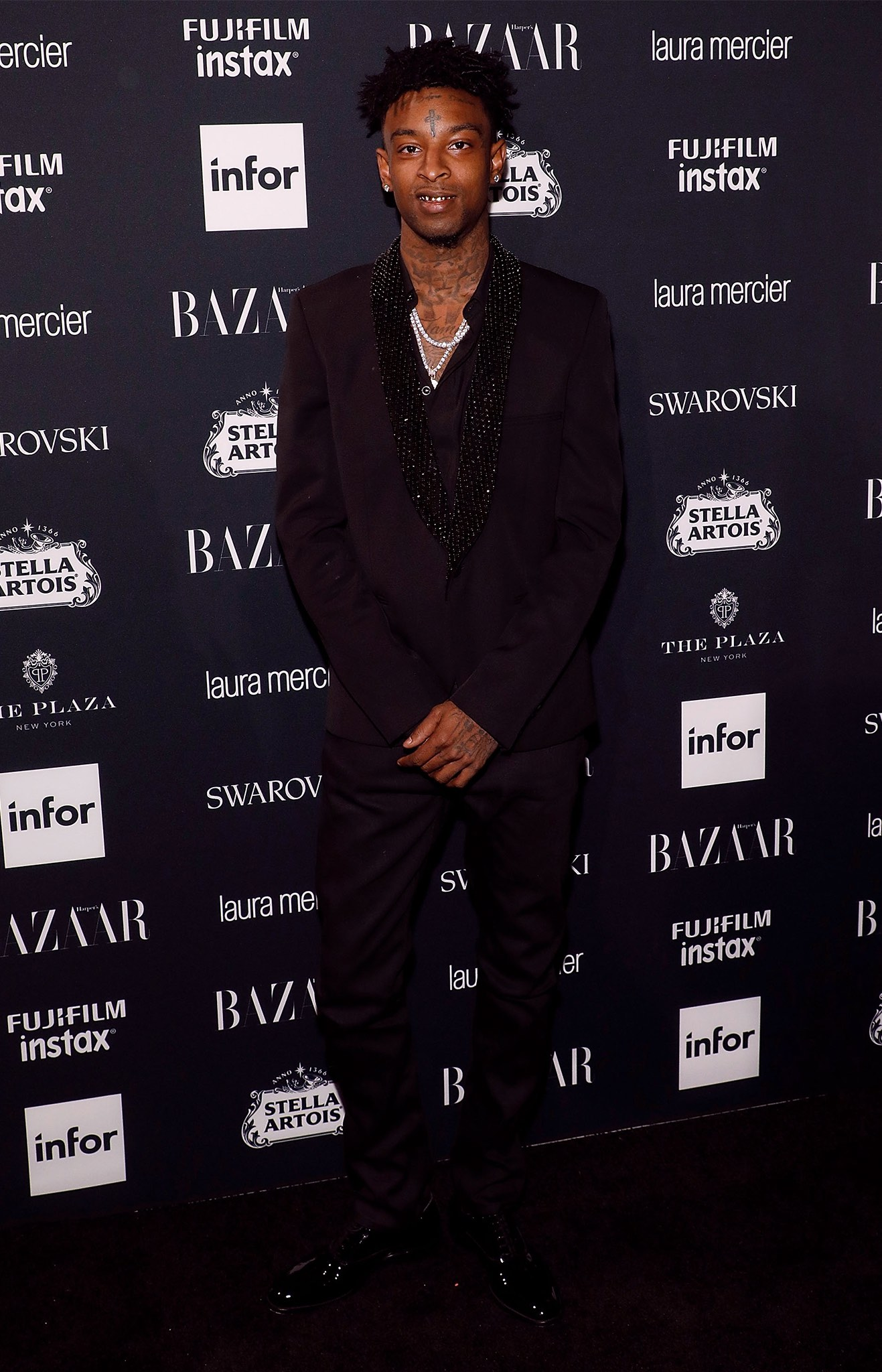 21 Savage at Harpers Bazaar Icons by Carine Roitfeld event
