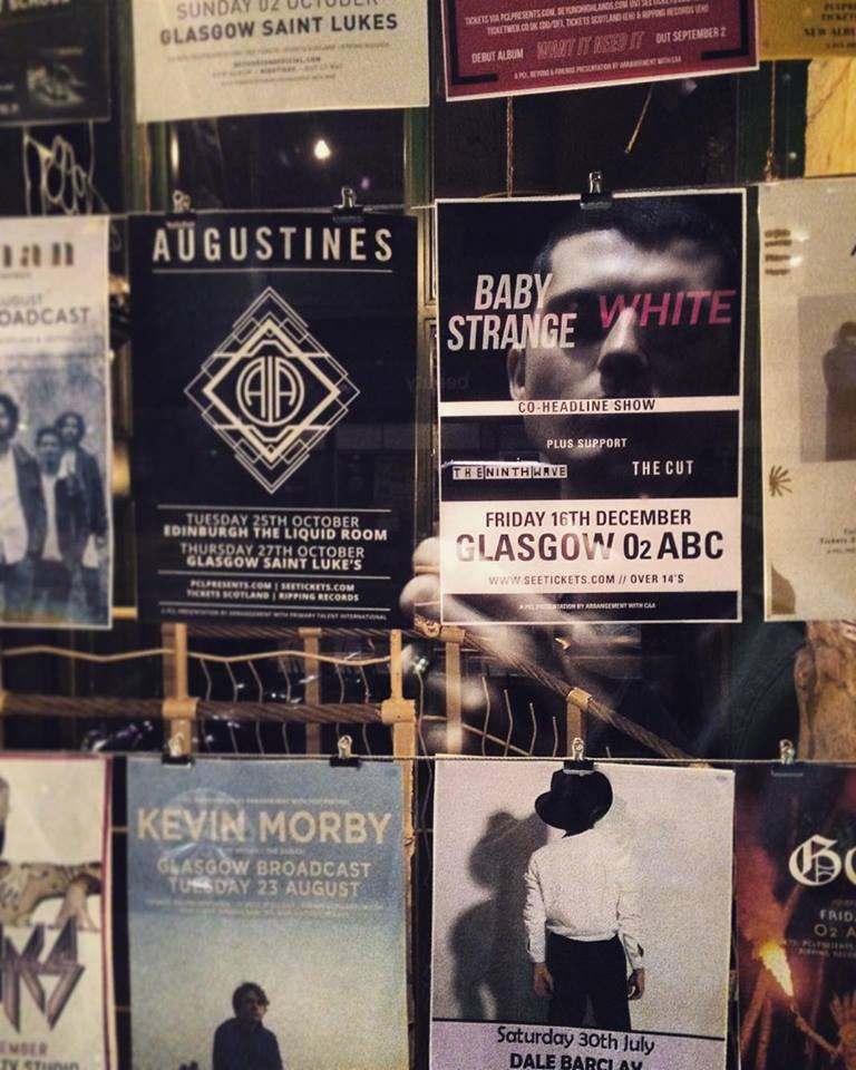 Poster of our biggest gig to date. Taken in Broadcast on Sauchiehall St.