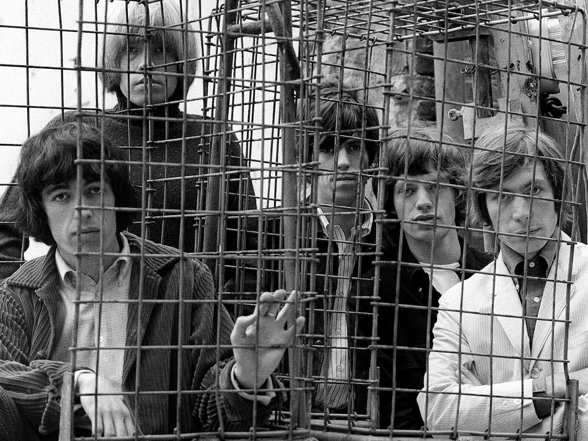 The Rolling Stones - caged (Credit: Gered Mankowitz)