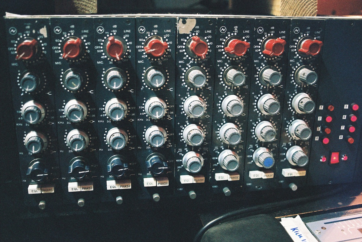 Some Neve Preamps we were using on the sessions, mainly for drums.