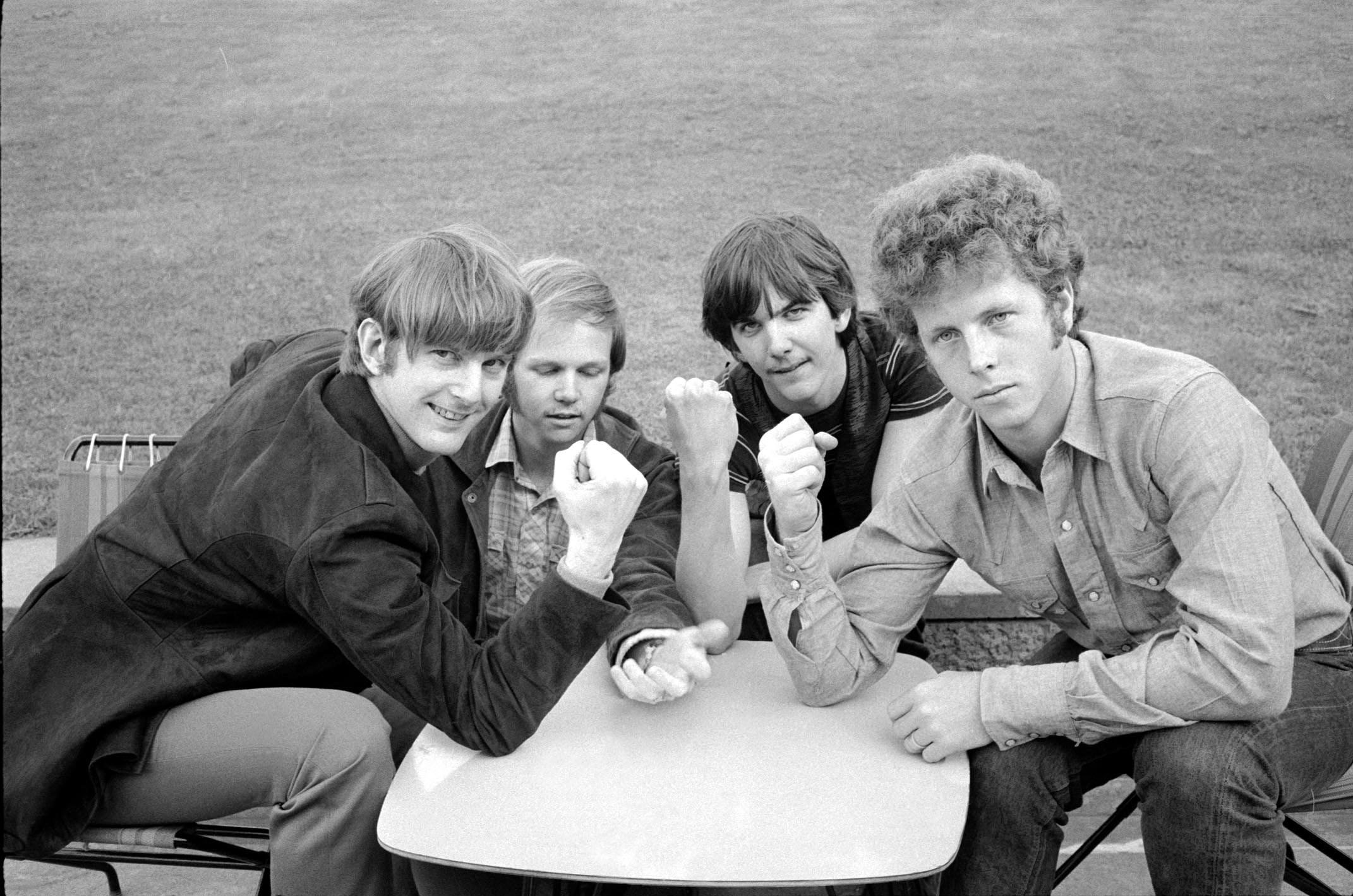 The Byrds, London, May 1968. L-R: Roger McGuinn, Kevin Kelley, Gram Parsons, Chris Hillman (Trinity Mirror / Mirrorpix / Alamy Stock Photo)