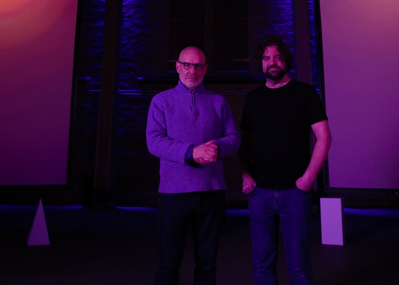 Brian Eno + Peter Chilvers (Credit: Microsoft)