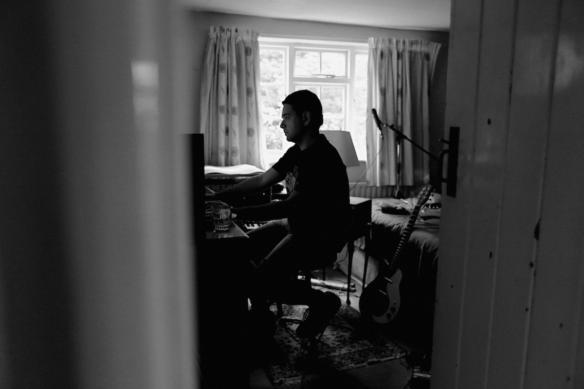 Our good friend Jodie took this whilst I was working on some arrangements. Some of the tracks were written in the studio and needed arranging.
