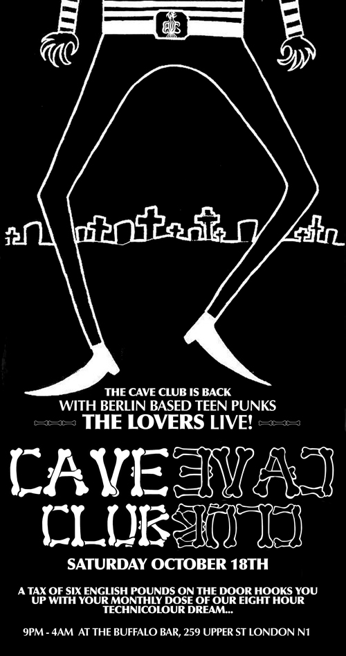 Cave Club @ Buffalo Bar (Ciaran O'Shea at Discordo Studio)