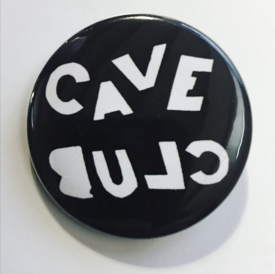 Cave Club badge (Ciaran O'Shea at Discordo Studio)