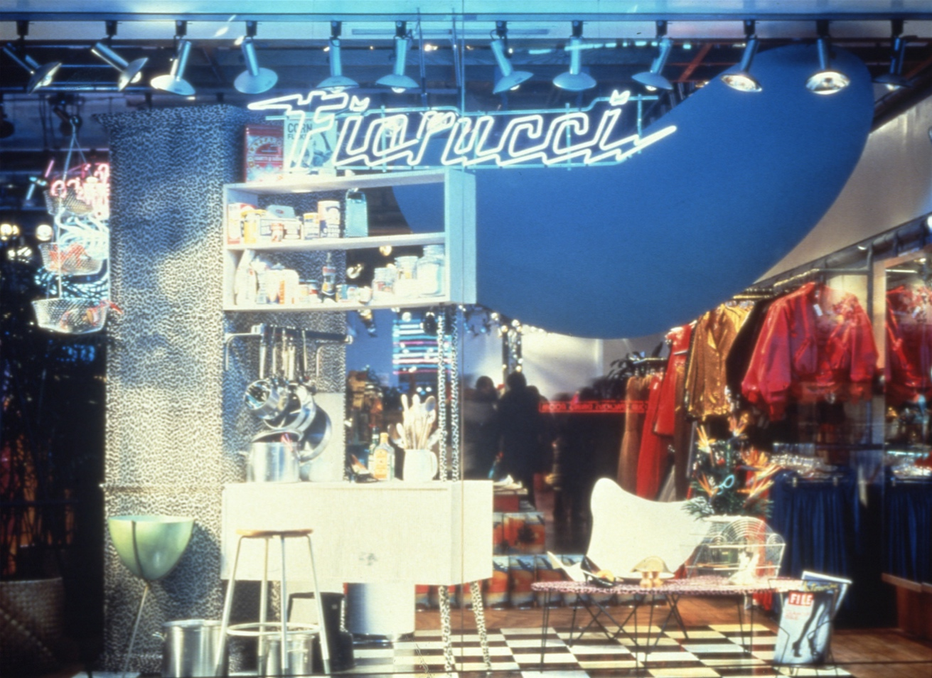 Window of the Fiorucci store, New York 1976