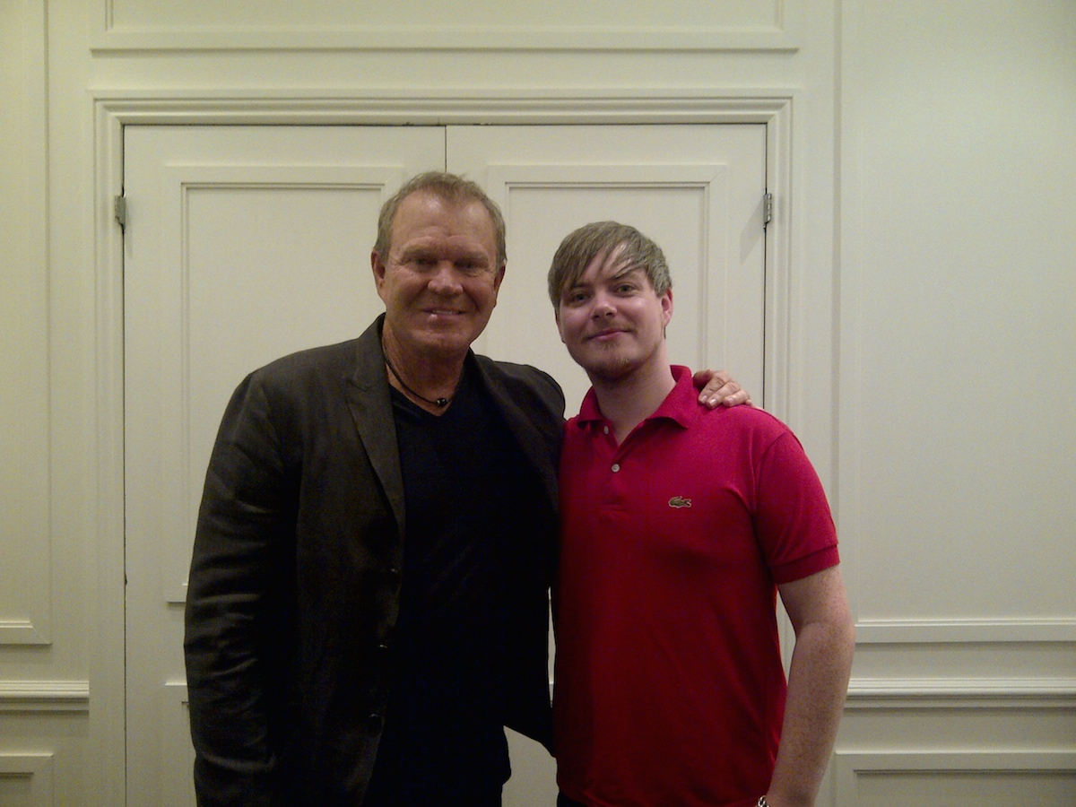 Glen Campbell and Clash Editor-In-Chief, Simon Harper, 2011