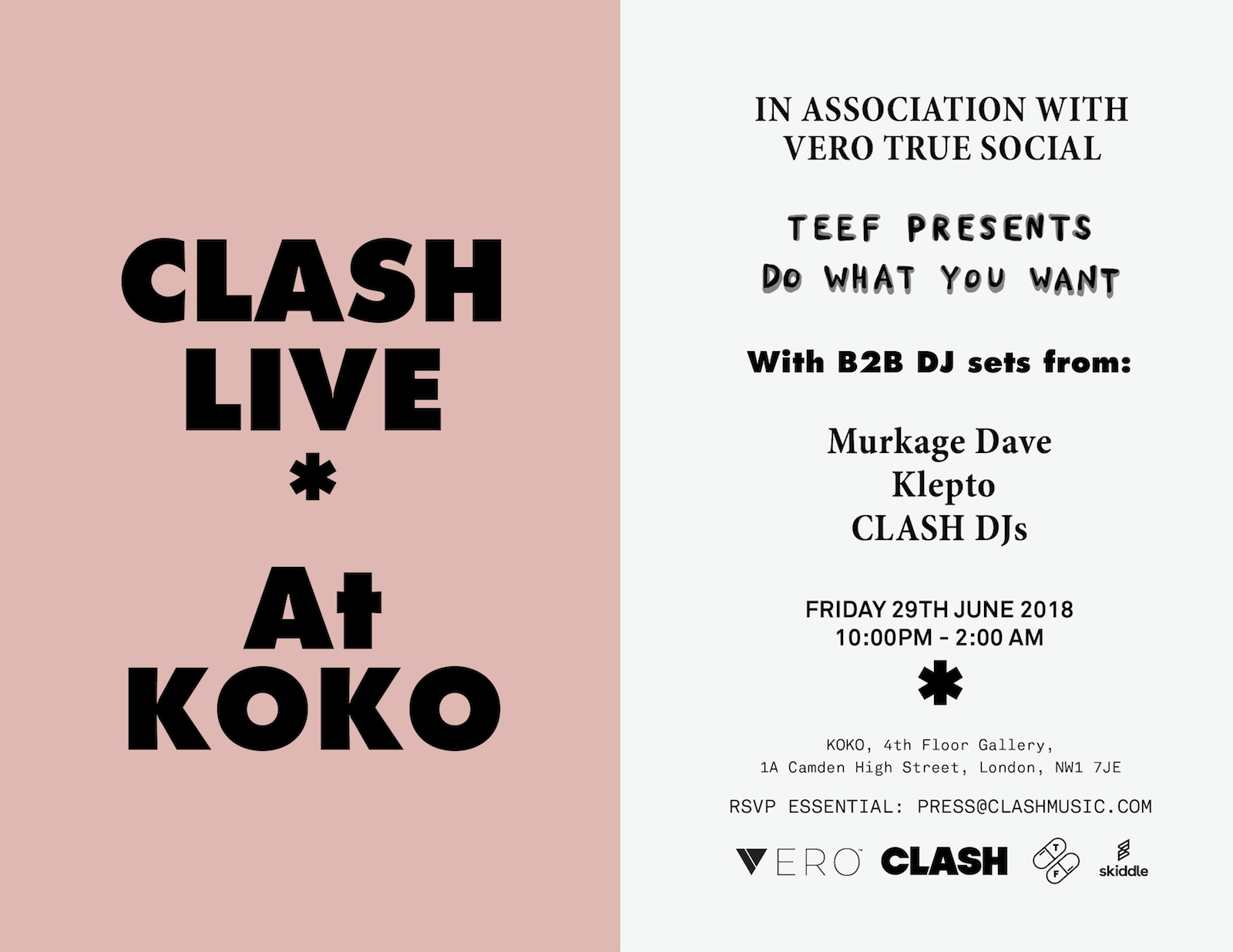 Clash Live @ KOKO, June 29th