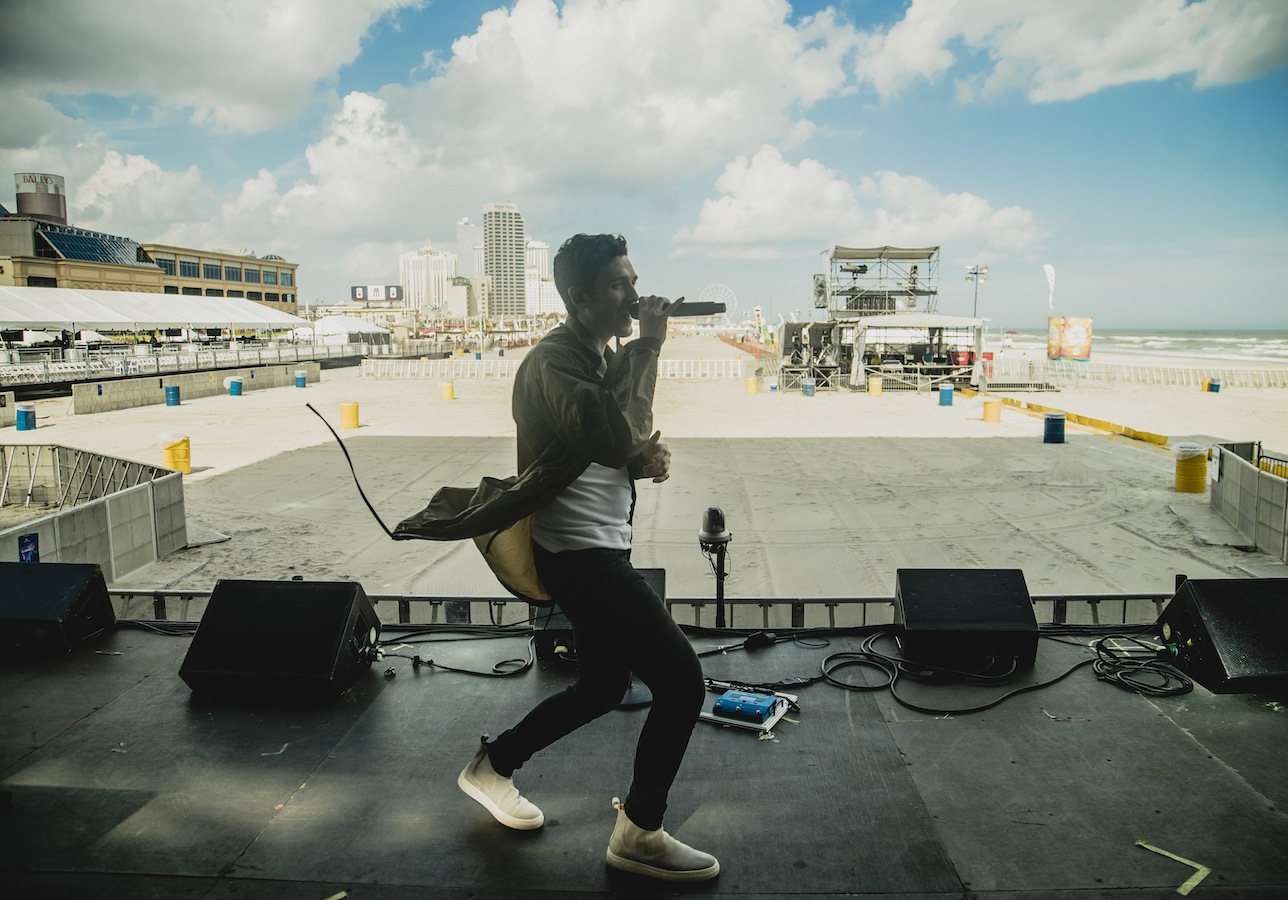 soundcheck on the beach in atlantic city