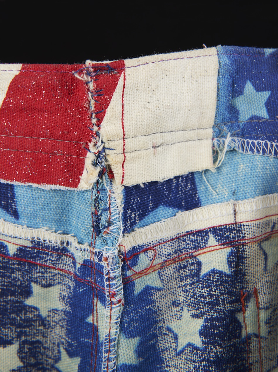 Beyoncé Knowles' trousers (designed by her mother Tina), part of a Destiny's Child costume for the United We Stand benefit concert, October 2001