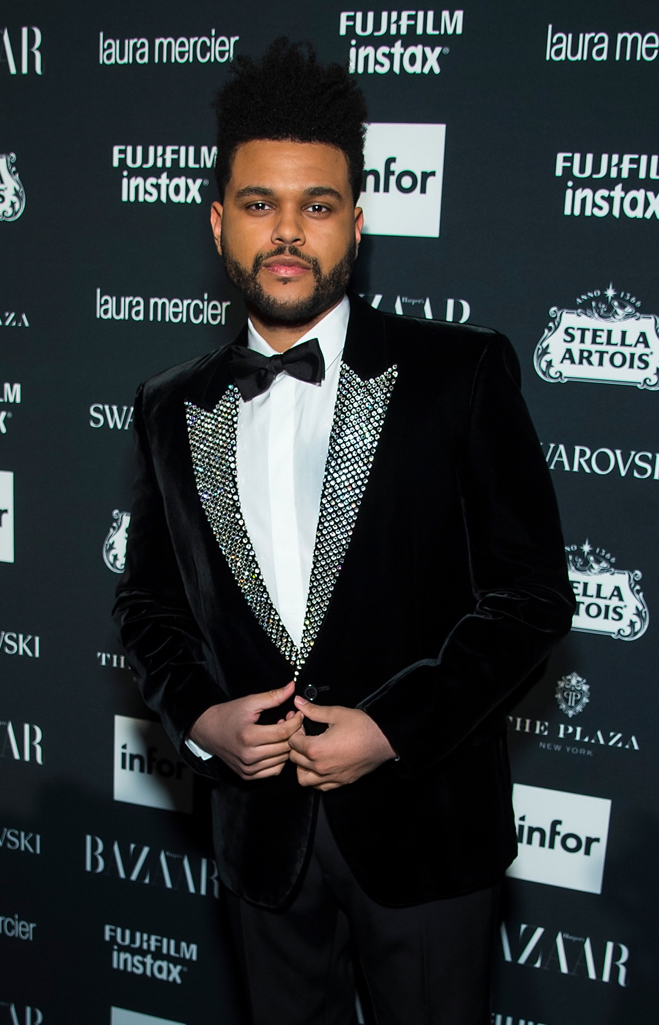 The Weeknd at Harpers Bazaar Icons by Carine Roitfeld event