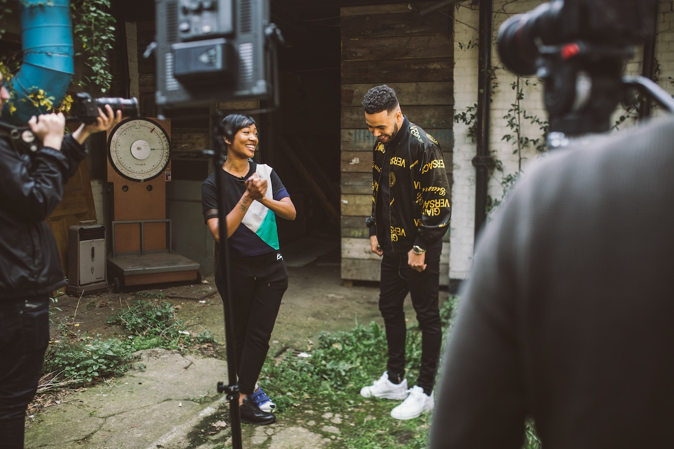 Behind the scenes on Yungen's video shoot (Credit: Rianna Tamara)