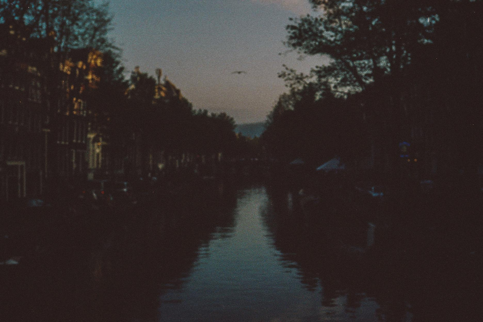5. A blurry night in Amsterdam. Highly recommend the canal tours.