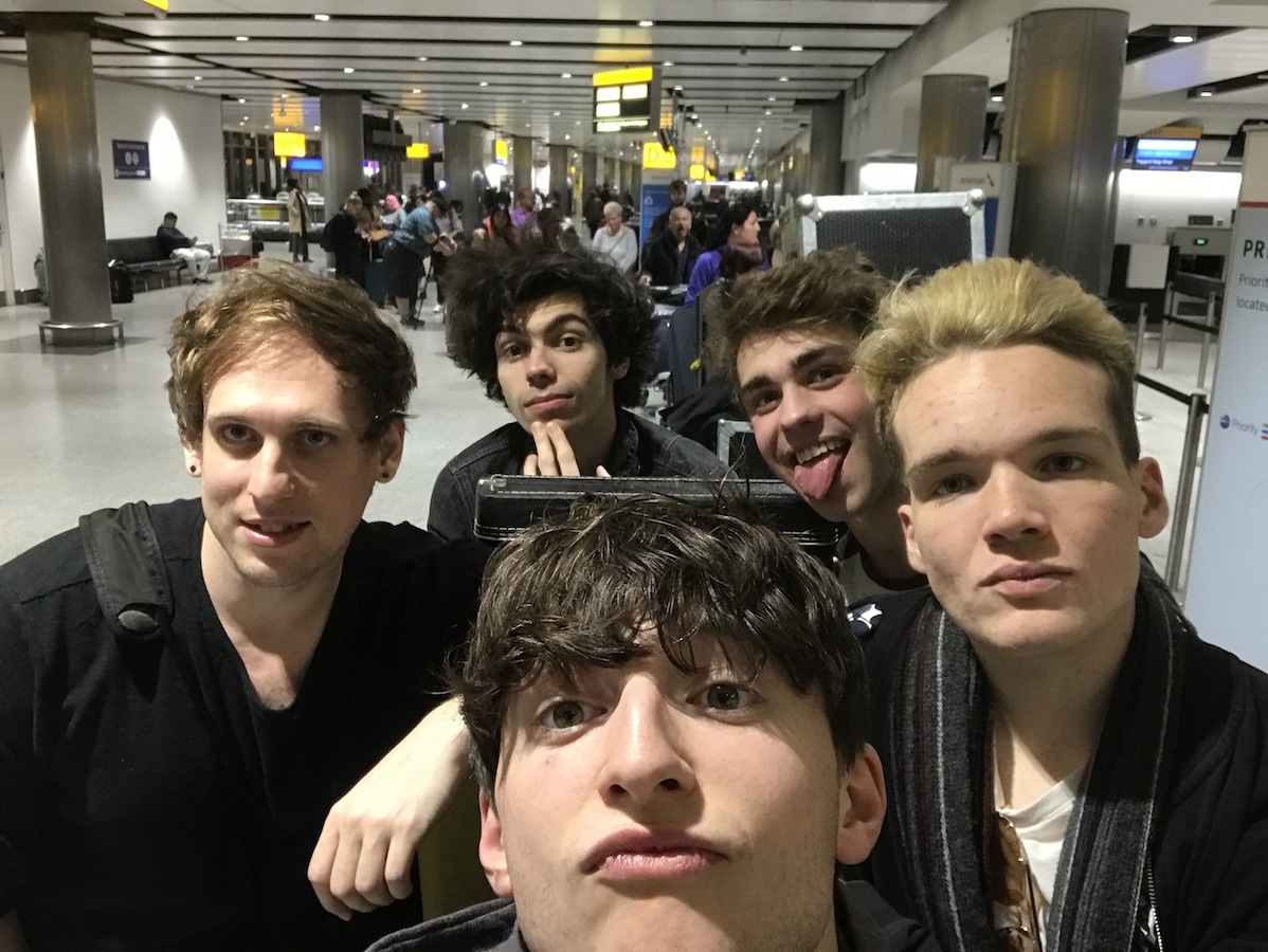 Pic 2: Just arrived at Heathrow and although it's about 4:30am we were too excited to sleep and absolutely buzzing to go!