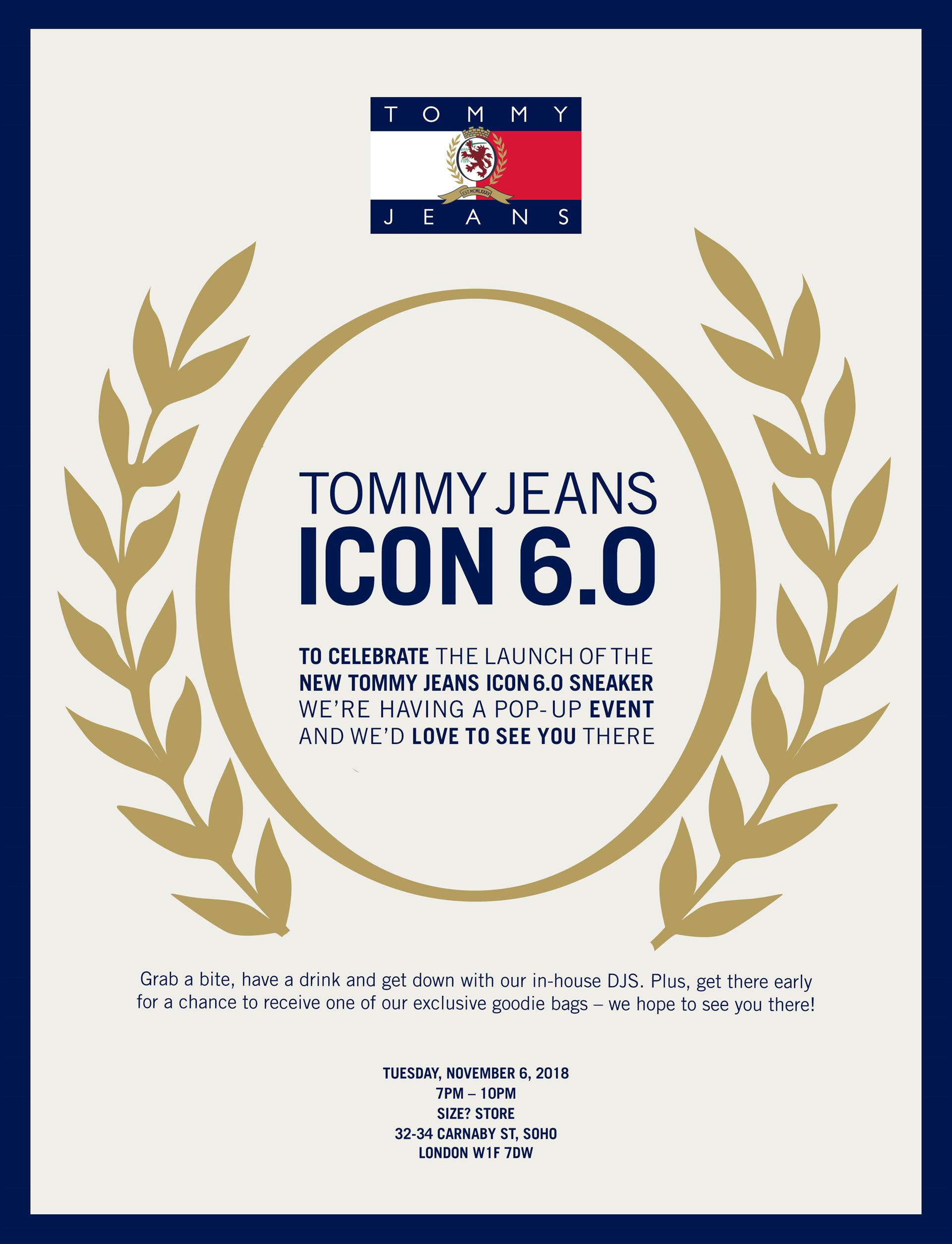 1778e4293db5 Tommy Jeans Icon 6.0 Sneaker Launch At Size  Carnaby Street ...